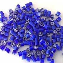 Millefiori: 4/5 Blue spirals