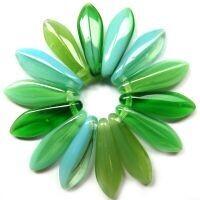Green Teal Streaky