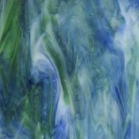 Glass: Cobalt Green White Swirl