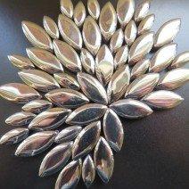 Ceramic Petals: Silver