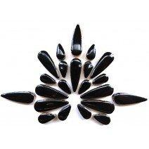 Ceramic Teardrops: Black