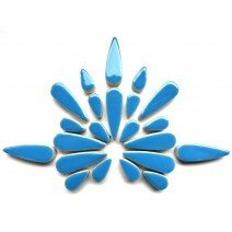 Ceramic Teardrops: Thalo Blue