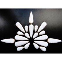 Ceramic Teardrops: White
