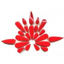 Ceramic Teardrops: Poppy Red