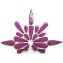 Ceramic Teardrops: Pretty Purple