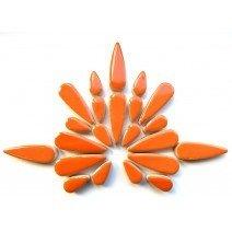 Ceramic Teardrops: Popsicle Orange