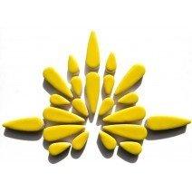 Ceramic Teardrops: Citrus Yellow