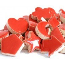 Ceramic Charms: Red