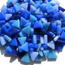 Glass Triangles 10mm: Blue Skies