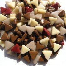 Glass Triangles 10mm: Toasty