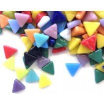 Glass Triangles 10mm: Carnival