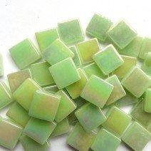 12mm: Soft Green Iridised