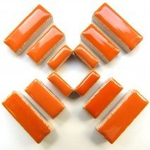 Ceramic Rectangles: Popsicle Orange