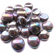 Glass Nuggets: Plum Opalescent
