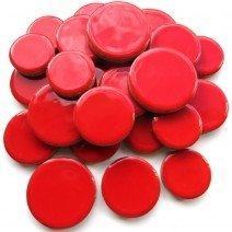 Ceramic Discs: Poppy Red