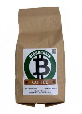 1 kilo BLOCKCHAIN COFFEE Café Arábica 100 % Molido