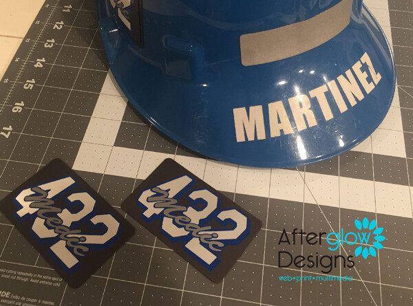 Vinyl Name Decal for Helmets/Magnets