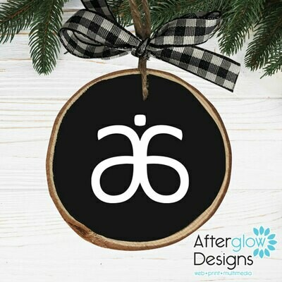 """Arbonne"" PERSONALIZED WOOD ORNAMENTS"