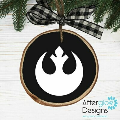 """Rebels"" PERSONALIZED WOOD ORNAMENTS"