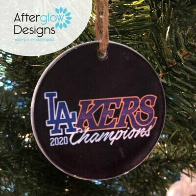 """LA-Kers"" Ornament"