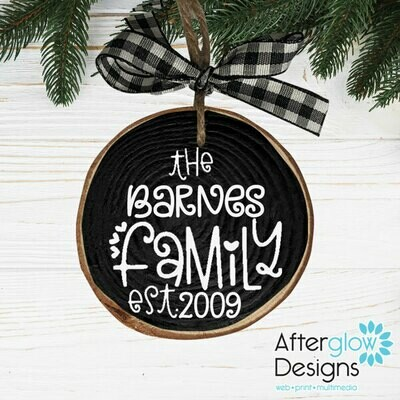 Personalized Family Ornament