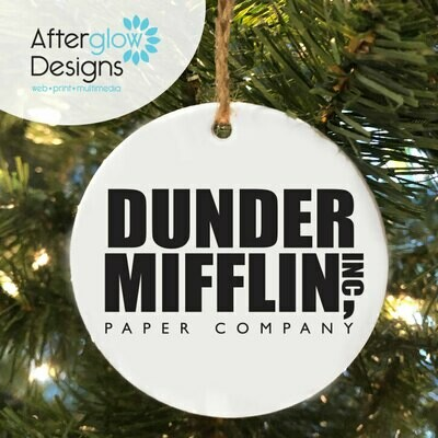 """Dunder Mifflin"" Ornament"