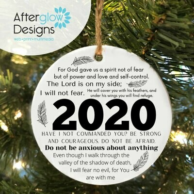 """Do Not Be Anxious"" 2020 Ornament"
