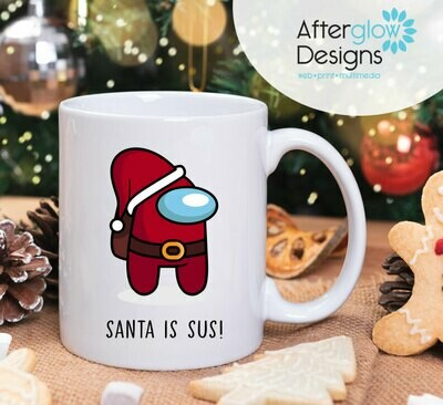 """Santa is Sus"" 15oz Mug"