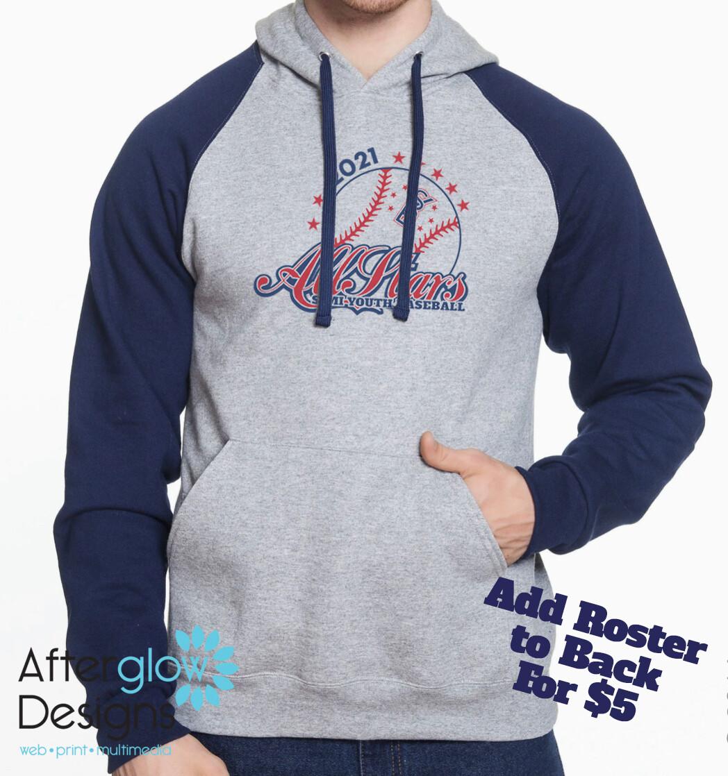 2021 SYB All Stars on Colorblock Raglan Hooded Sweatshirt