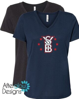 2021 SYB ALL STARS on Navy or Heather Black Relaxed Vneck