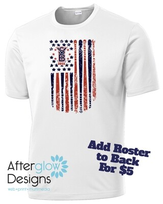 2021 SYB ALL STARS Flag on Silver or White Drifit Tee