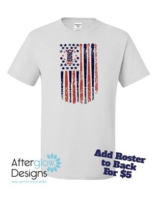 2021 SYB ALL STARS Flag on Silver or White 50/50 Tshirt