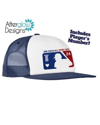 2021 SYB ALL STARS MLB ON BLACK OR NAVY Trucker Hat