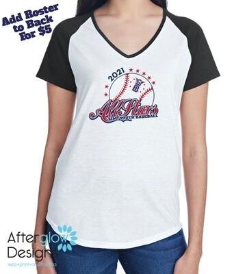 2021 SYB ALL STARS MLB on Tri-Blend Raglan Short Sleeve T-Shirt