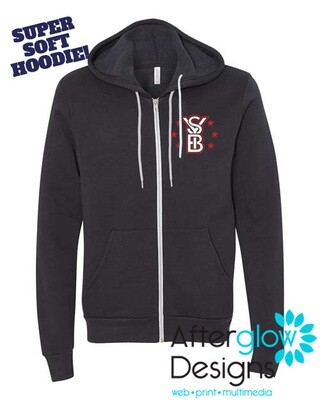 2021 SYB ALL STARS on Zip-up Charcoal or Black Bella + Canvas Hoodie