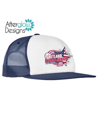 2021 SHETLAND WORLD SERIES LOGO ON NAVY Trucker Hat