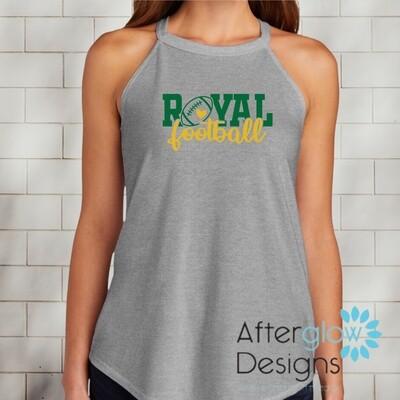 Royal Heart Design on Gray Perfect Tri-Rocker Tank
