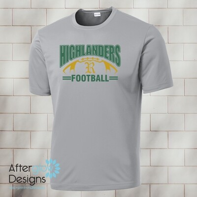 Highlander Design on Silver Drifit Tee