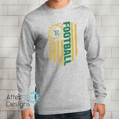 Flag Design on Gray Long Sleeve TShirt