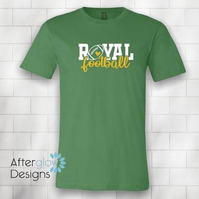 Royal Heart on Green Bella + Canvas Tshirt
