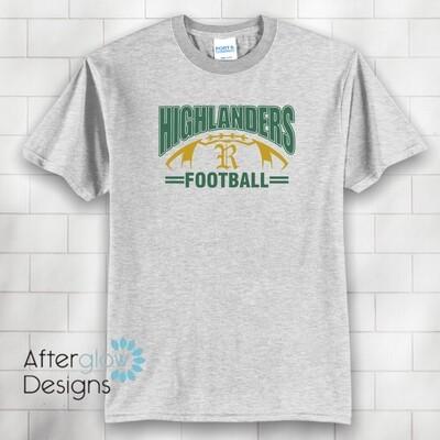 Highlander Design on Ash Basic Tshirt