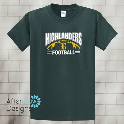 Highlander Design on Dark Green Basic Tshirt