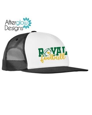 ROYAL HEART LOGO ON BLACK/WHITE Foam Trucker Hat