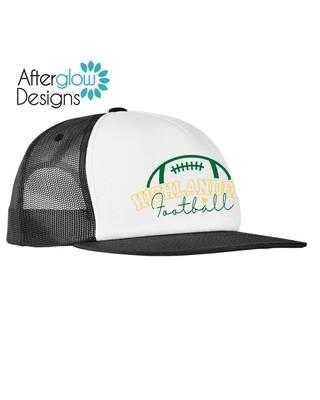 FOOTBALL HEART LOGO ON BLACK/WHITE Foam Trucker Hat