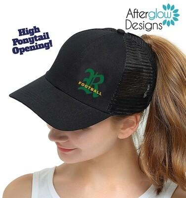 R LOGO ON BLACK High Ponytail Hat