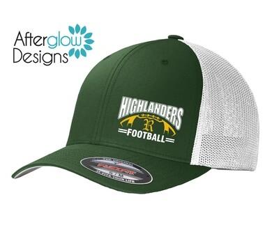 Highlander Design ON GREEN/WHITE Flexfit Hat