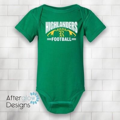 Highlanders Design on Green Onesie