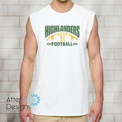 Highlanders Design on White Sleeveless Tshirt