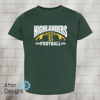 Highlander Design on Dark Green Toddler Tshirt