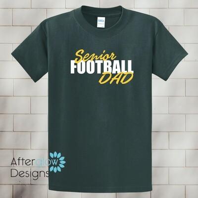 Senior Football Dad Design on Dark Green Basic Tshirt